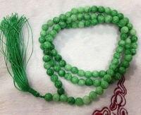 ÜCRETSIZ KARGO>>> 8mm Doğal Yeşil taş Tibet Budist İnançlar 108 Namaz Boncuk Mala Kolye