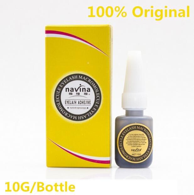 1PC Navina Good Quality Professional Makeup Eyelash Glue for False Eye Lashes Extension Beauty Macromolecule Adhesive Glue