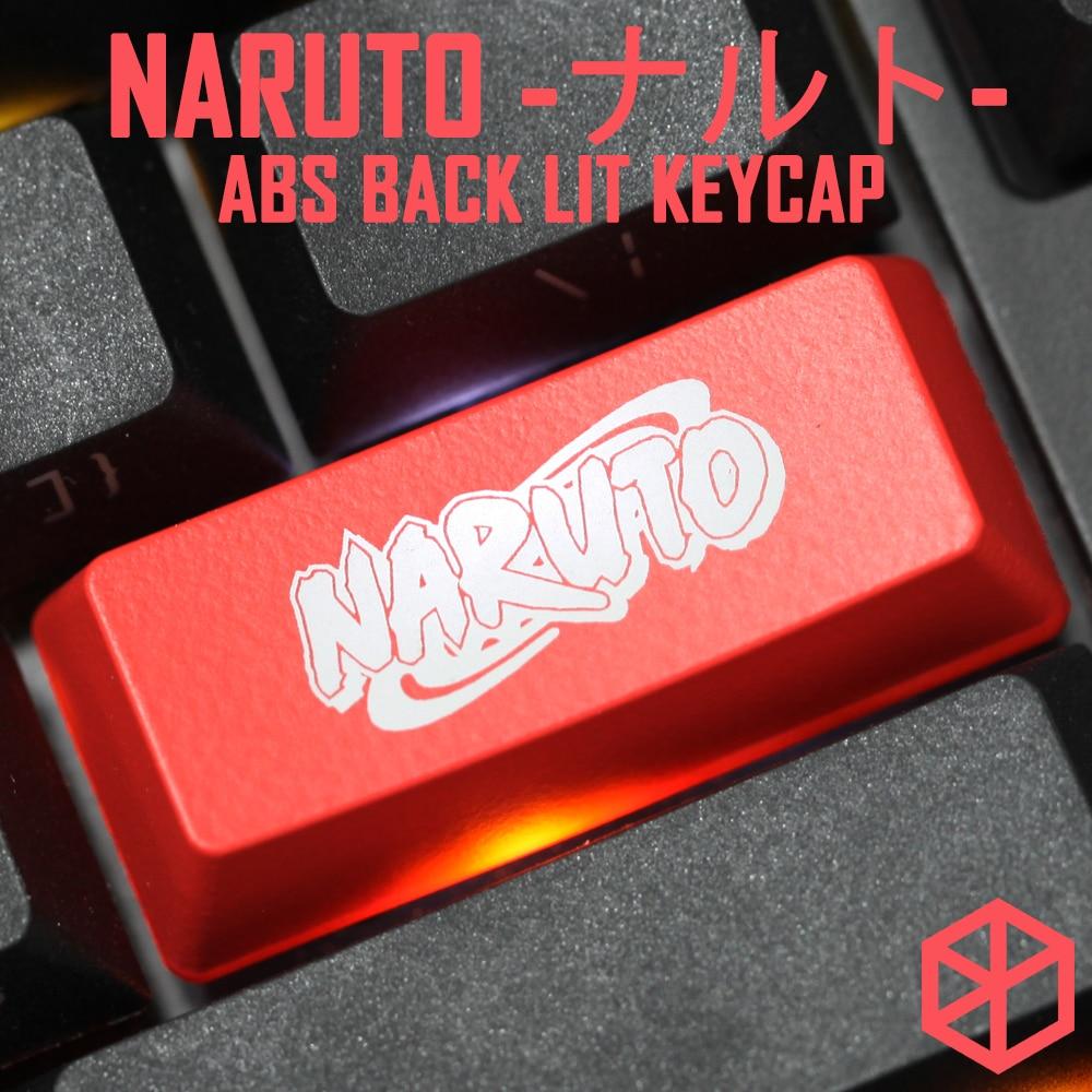 Novelty Shine Through Keycaps ABS Etched Black Red Esc The Sharingan NARUTO Sasuke Naruto Kakashi Sakura Konohagakure