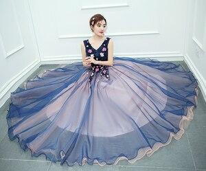 Image 5 - รูปภาพจริง 2020 สินค้าใหม่มาใหม่สีสันยาวชุดราตรีอย่างเป็นทางการ Gowns เจ้าสาว Shop พวกเขา Uniform สำหรับเปียโน SOLO แสดง