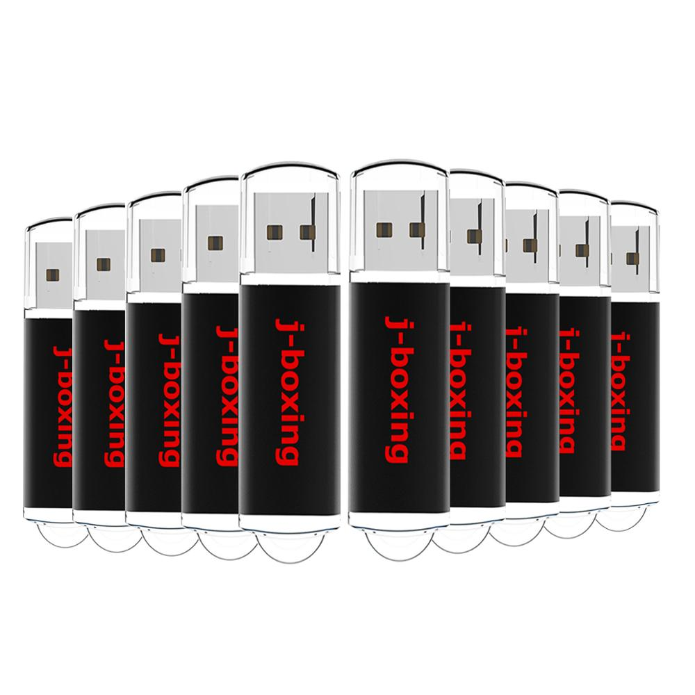 J boxing 10PCS 1GB USB Flash Drives Bulk 2GB Rectangle Thumb Drives 4GB 8GB USB 2.0 Sticks 16GB 32GB Pendrive with Cap Black-in USB Flash Drives from Computer & Office