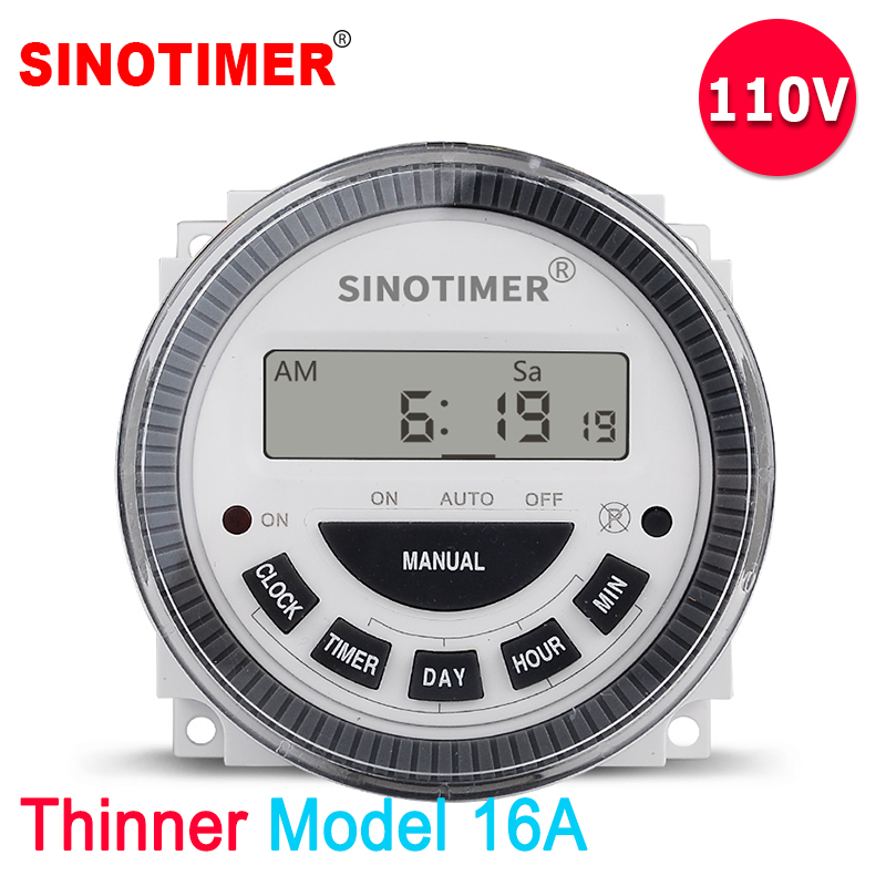 Relays Useful 24 Hours 7 Days Tm619 Digital Programmable Timer Switch 220v 16a 4pin Internal Battery Automatic Gate Timer