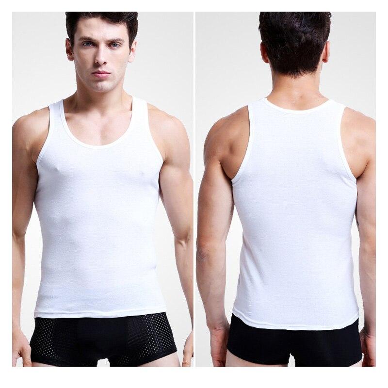 2 Teil/paket Sommer Neue Mode Baumwolle Bequeme Weste Solide Unterstützung Air Bewegung Herren Unterhemden Keine Ball Kein Verblassen
