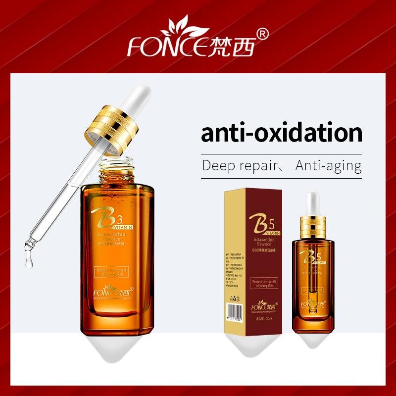 Coréenne Soins de La Peau Astaxanthine primaire liquide Antioxydant D'alléger la mélanine Naturelle ingrédients Visage Blanchissant Anti-vieillissement Sérum 30 ml