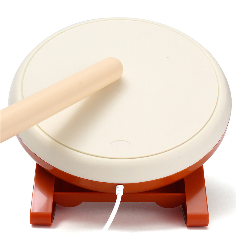 цена For Taiko No Tatsujin Video Game Drum Sticks Handle Kit for Nintendo for Wii Remote Controller Console Gaming Accessories