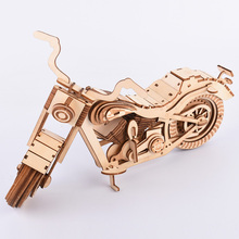 3D Laser Cut Model Puzzle Toys Harley Motorcycle Wooden Puzzle Game Assembly Educational Toys Gift For Kids Children Adult 3d puzzle model aircraft series children s toys diy3d metal puzzle set laser cutting handmade puzzle adult puzzle game