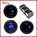 52MM DIGITAL TRIPLE 3 IN 1 GAUGE KIT( WATER TEMP+OIL PRESSURE+TACHOMETER) BLACK COLOR BLUE LED/AUTO GAUGE WITH SENSOR