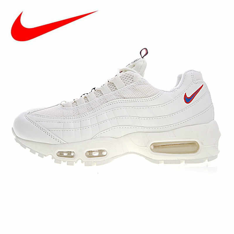 acbd880a13 Nike Air Max 95 TT Men and Women Running Shoes, White, Shock Absorption,