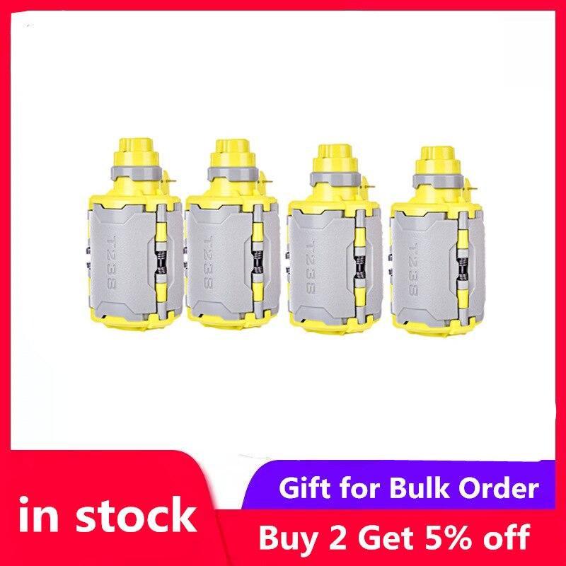 4 piezas T238 V2 bomba de agua de gran capacidad para Airsoft Wargame con función de tiempo retardado para Nerf Gel Ball BBs gris + amarillo-in Armas de juguete from Juguetes y pasatiempos    1