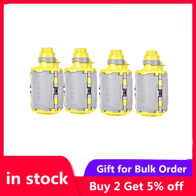 4pcs T238 V2 Large Capacity Water Bomb for Airsoft Wargame with Time-delayed Function for Nerf Gel Ball BBs - Grey + Yellow4pcs T238 V2 Large Capacity Water Bomb for Airsoft Wargame with Time-delayed Function for Nerf Gel Ball BBs - Grey + Yellow