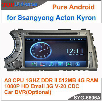 S150 Pure Android Car DVD Player for Ssangyong Acton Kyron Car Audio GPS Radio with Navitel Russia map 1080P A8 1G CPU 512DDR