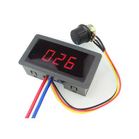 Free shipping 6V 12V 24V 5A PWM DC Stepless Speed Switch Controller  Digital Display LED Home Automation Modules