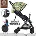 Spiritkids carrinho de bebê de carro do bebê luz carrinho de criança dobrável carrinho de guarda-chuva carro