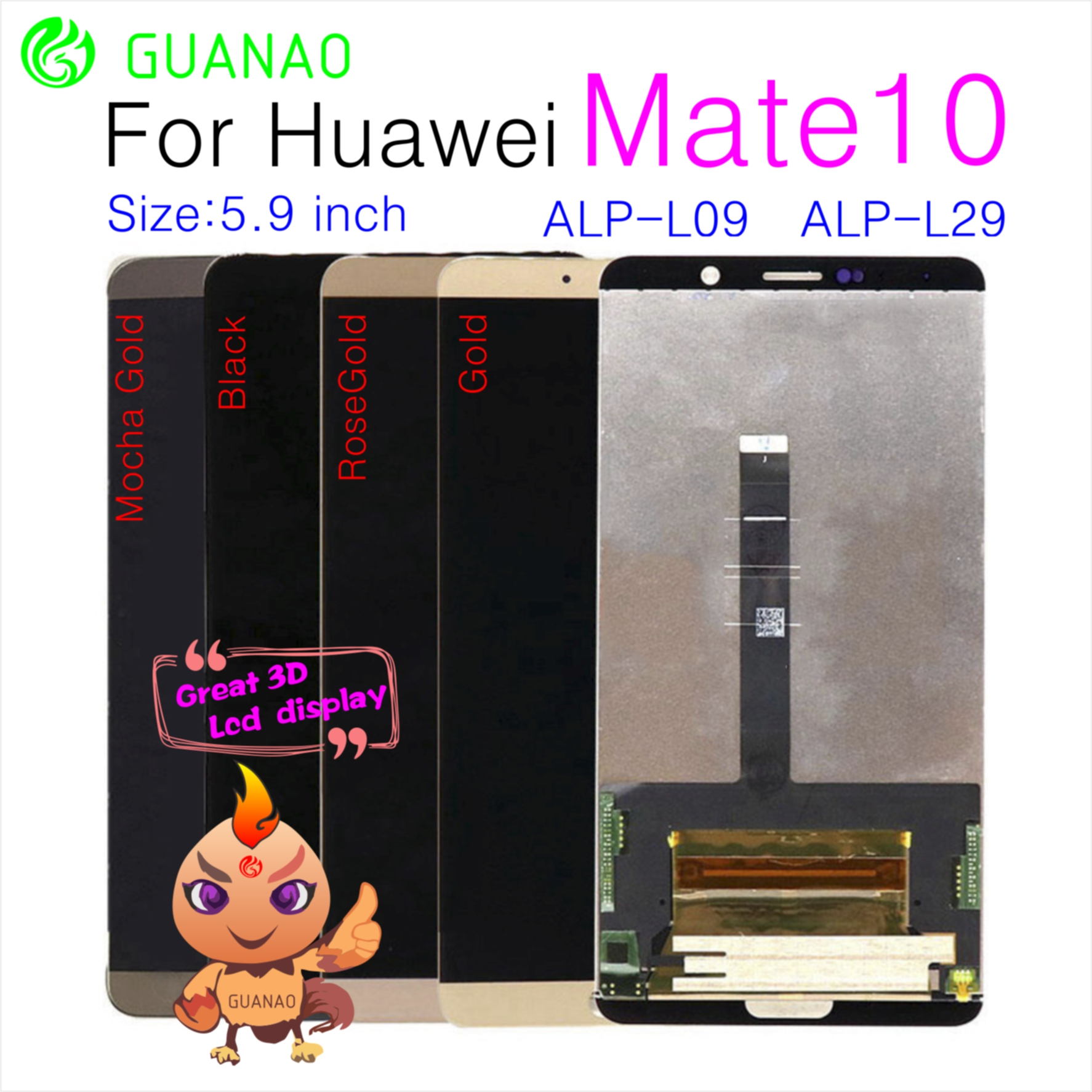 For Huawei Mate 10 LCD Display Touch Screen Digitizer Assembly For Huawei Mate 10 LCD Mate10 ALP L09 L29 Screen ReplacementFor Huawei Mate 10 LCD Display Touch Screen Digitizer Assembly For Huawei Mate 10 LCD Mate10 ALP L09 L29 Screen Replacement