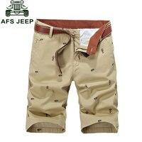 2017 Brand Clothing CLOTHES Plus Size 30~44 Cotton Summer Men's Print Casual Bermuda Shorts Pocket Short Pant Pantalones Cortos