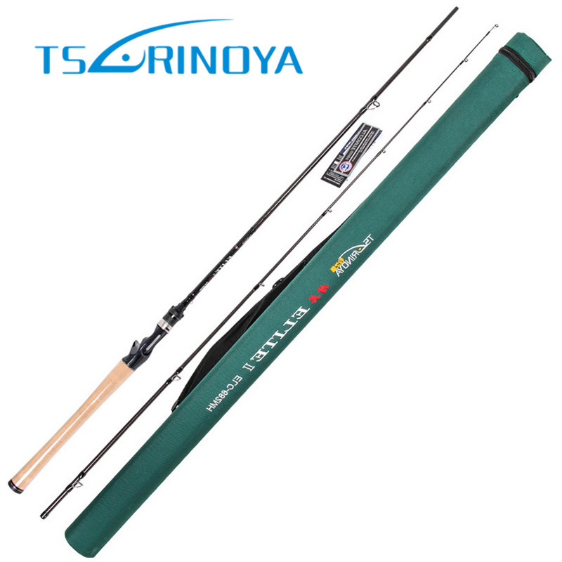 TSURINOYA 2.03m MH Fast Bait Casting Fishing Rod 7-28g/10-20LB 3A Cork Hand FUJI Accessories Baitcasting Fishing Rod Lure Stick
