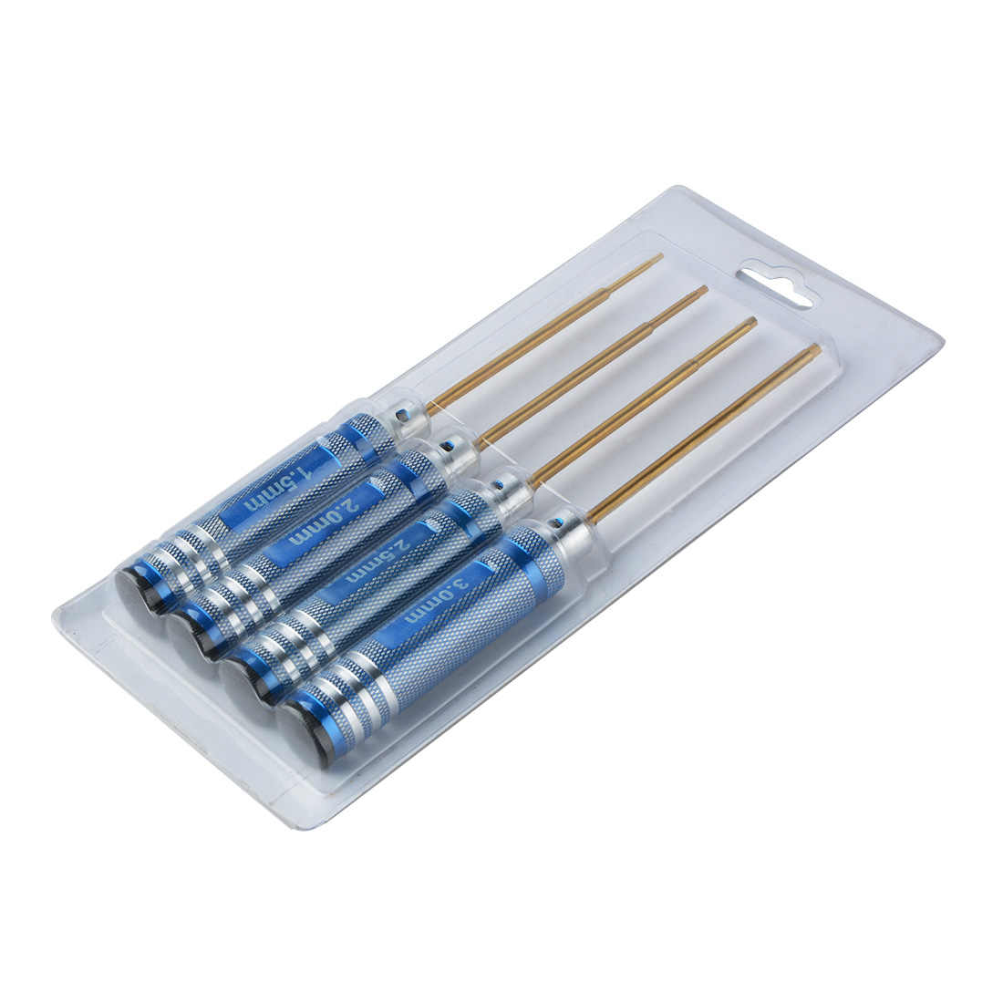 RC Universal Metal Model Tools Hexagon Screwdriver Blue/ Black Hex Nut Head Screw Driver Tool Set 1.5 2.0 2.5 3.0mm Kits
