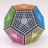 2018 Shengshou Tegaminx Головоломка Куб 12 лица профессиональный 9x9x9 ПВХ и матовые наклейки Cubo головоломки Скорость классические развивающие игрушки
