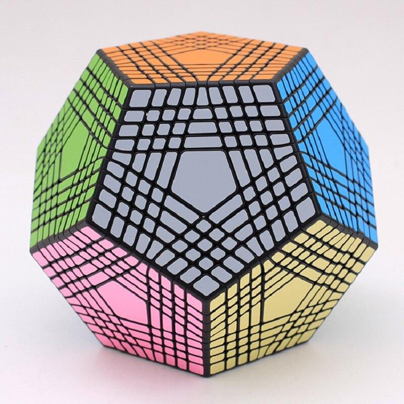 2018 Shengshou Tegaminx Puzzle Cube 12 Faces professionnel 9x9x9 PVC & mat autocollants Cubo Puzzle vitesse classique jouets éducatifs