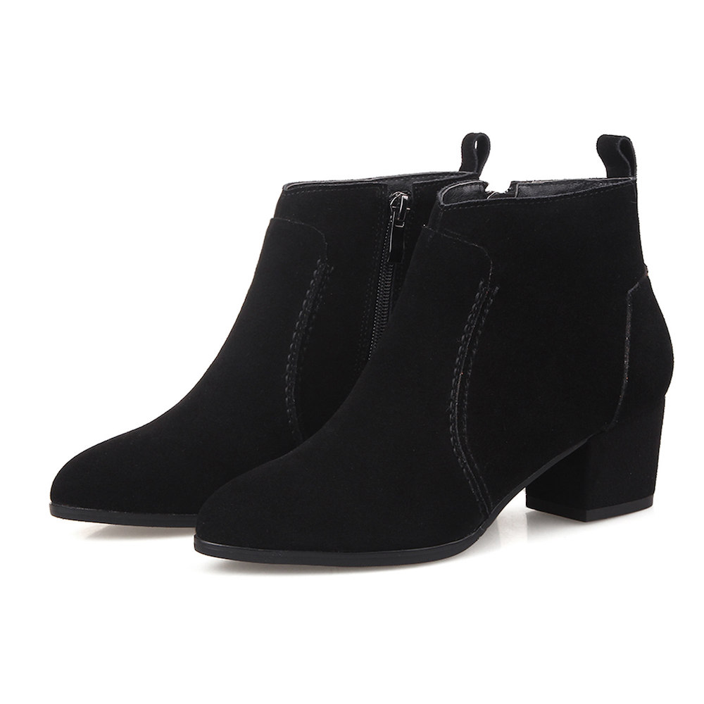 LAFS CSTLAV Genuine Leather Cow Suede Chelsea Boots Woman Zipper High Quality Comfortable Casual Beautiful Design Women Booties