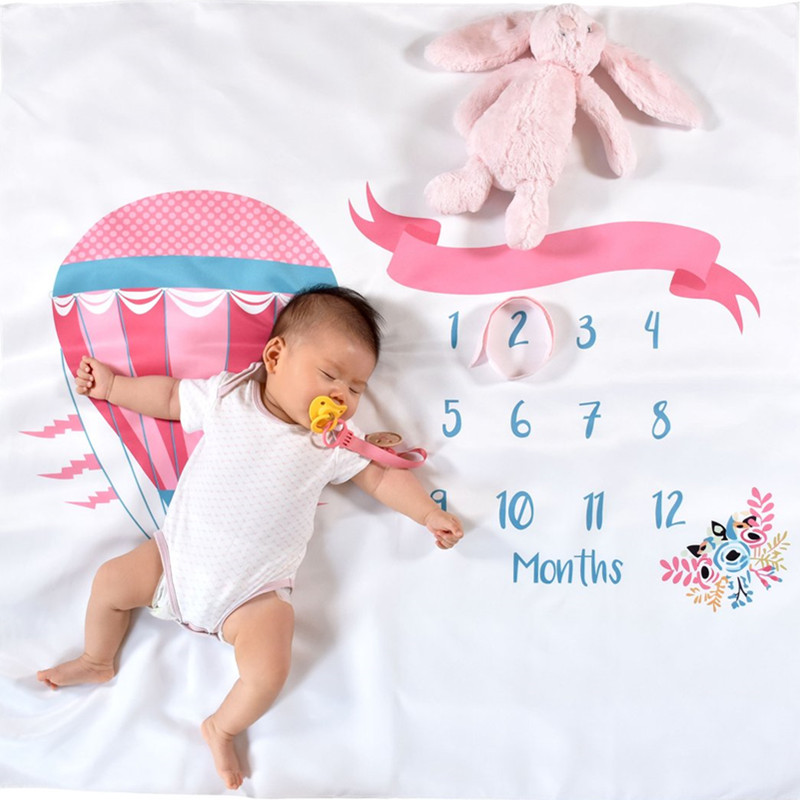 Parachute Newborn Baby Milestone Blanket Photography Photo Props Monthly Backdrop Cloth Toddler Memorial Day Photography