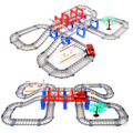 D1027 Free shipping Thomas train track suit double car track car toy train toys, educational toys for children
