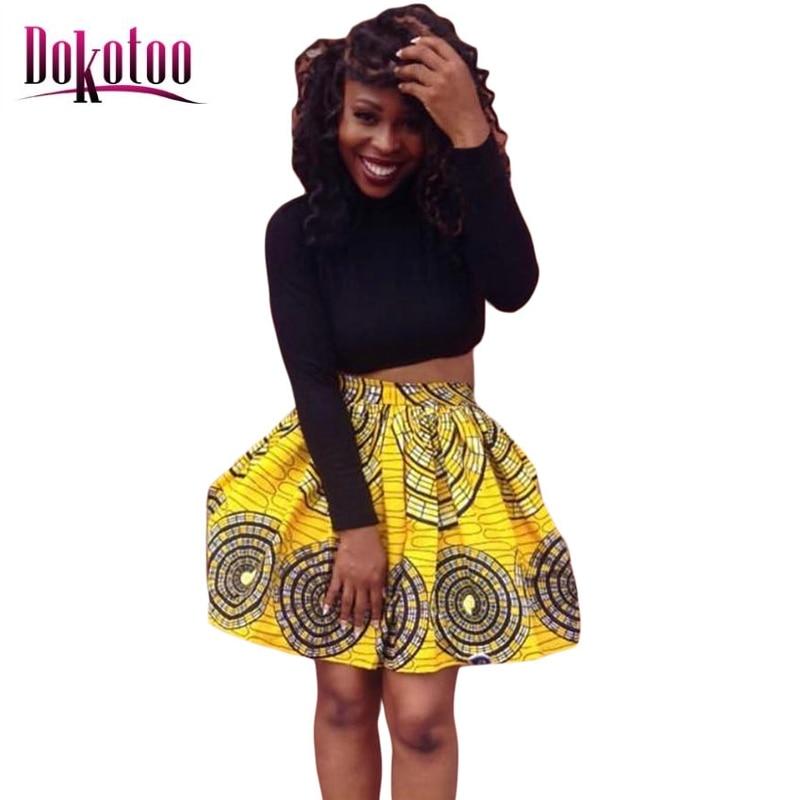 db83c8b3c60831 2017 Afrikaanse Print Geel Omcirkeld Skater Stijl Mini Rok LC65029 mode  vrouwen rok sexy dans saias de verao femininas in 2017 Afrikaanse Print  Geel ...
