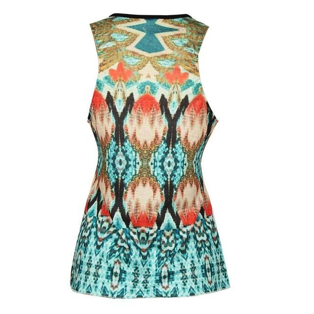 aef04e64f6908c Online Shop tribe Vintage Women Summer V Neck T Shirt Blusas Vest ...