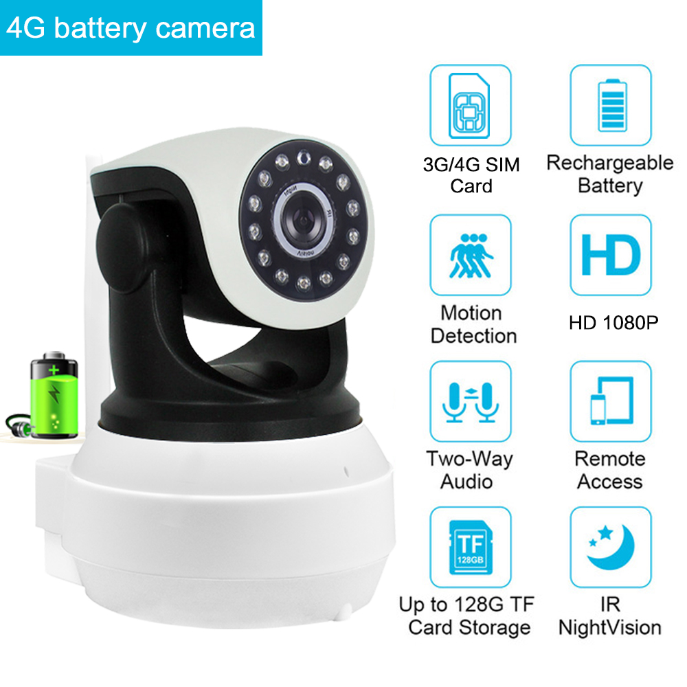 3G 4G Camera Built in Battery GSM SIM Card Camera Wireless WIFI Home Security 720P 960P 1080P HD Surveillance Video IP Camera