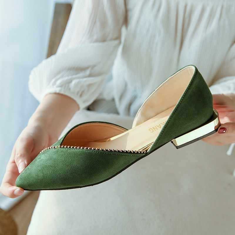 2020 Primavera Nuova Donna di Modo Pattini Degli Appartamenti di Balletto Femminile Scarpe Slip on Mocassini Scarpe a Punta Casual Espadrillas Zapatos Mujer N552