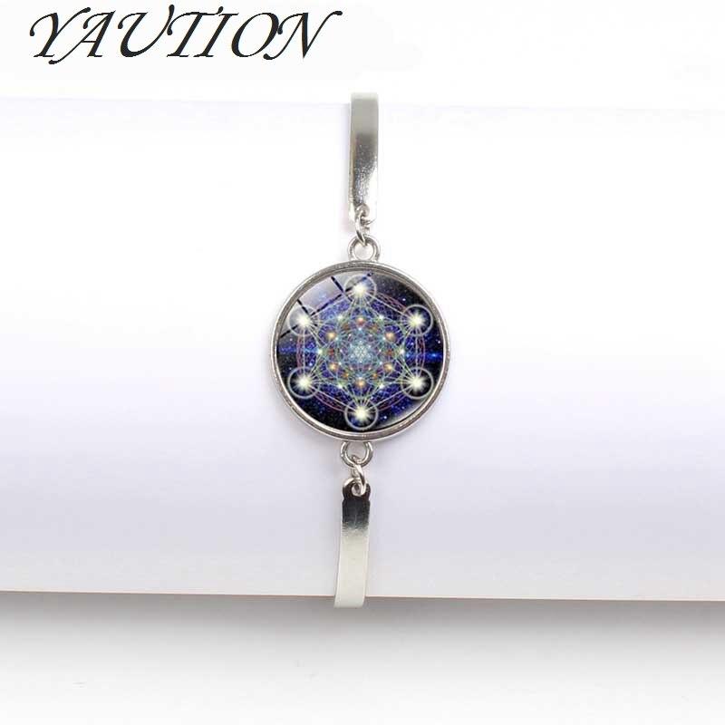 New Hexagram Glass Tibet Silver Charm Infinity Bracelets Jewelry