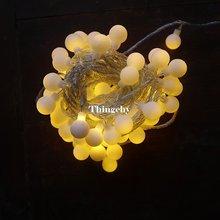 Вишневые шары светодиодные сказочные огни декоративные на батарейках