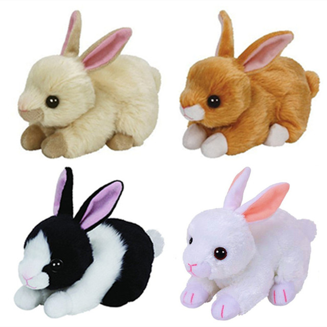 bc136a32a8a5f Ty Beanie Babies Easter Rabbit Bunny Plush Toy Stuffed Animal Creampuff  Bunnie Checkers Cotton Smokey Jumper Lilac Kids Toys