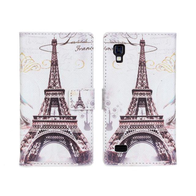 Nueva torre Eiffel patrón pu Cartera de cuero funda para LG Optimus ...
