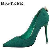 BIGTREE alta calidad perla bombea los zapatos de las mujeres de 2017 verano  10 cm Corea 8f172c2eab43