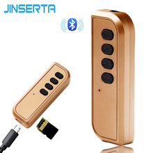 JINSERTA Bluetooth 4.2 Receiver 3.5mm Aux Bluetooth Audio Receiver Wireless Adapter Support TF for Speaker Headphone Hands free