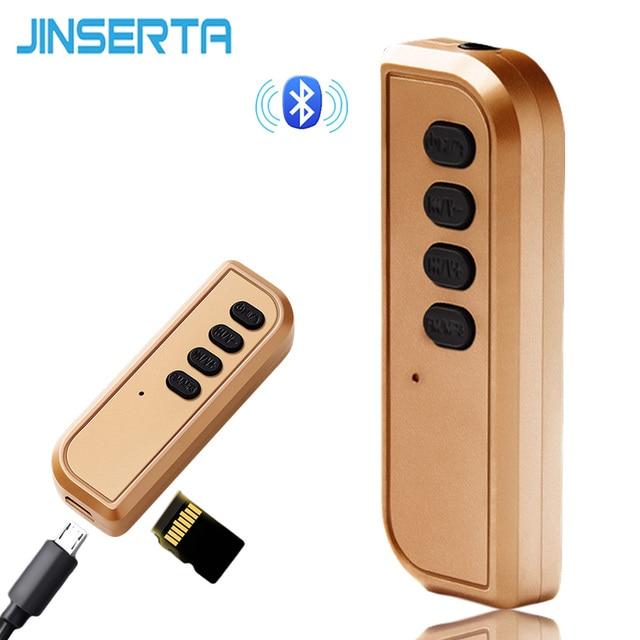 JINSERTA Bluetooth 4.2 Ricevitore 3.5 millimetri Aux Ricevitore Audio Bluetooth Adattatore TF di Sostegno per Altoparlante Senza Fili Della Cuffia a Mani Libere