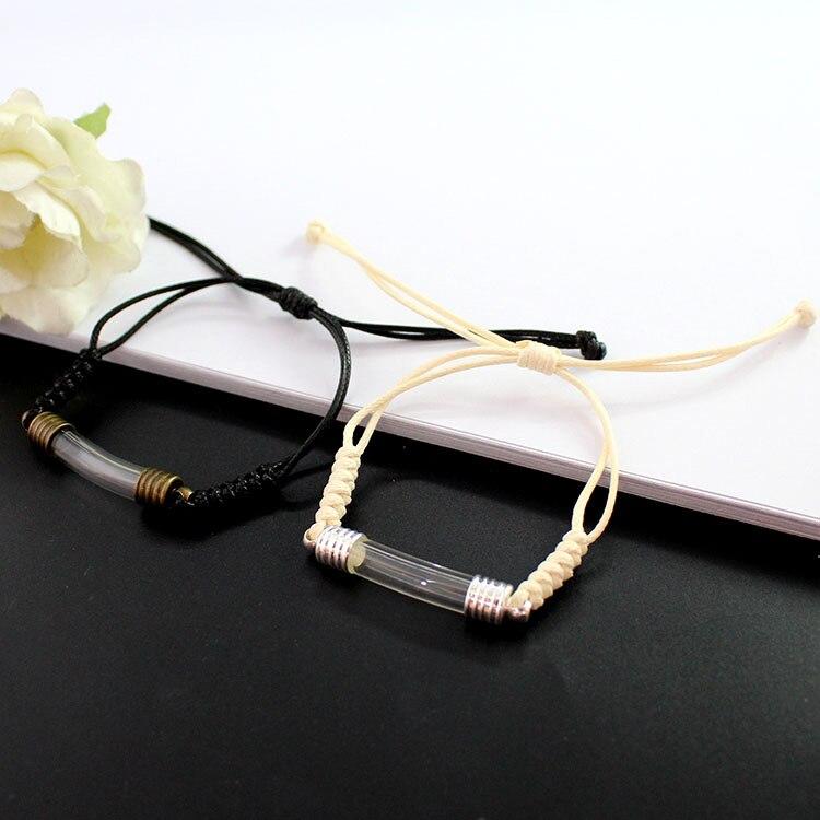 1PC 6MM curve צינור צמידי (3 צבע חבל) premade ארוג כותנה צמיד אורז בקבוקון צמידי מאחל צמיד Diy תכשיטים