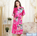 New fashion sexy women Nightgown ladies sleepwear nightdress Lingerie Floral print Kimono camisola vestidos femininos nightie