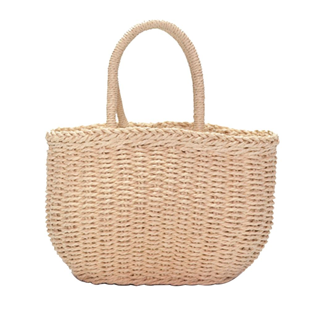 Handwoven Rattan Bag Straw Hand Woven Summer Beach Bags Bohemian Fashion Causal Tote For Women Holiday Travel Handbag Totes Bag in Top Handle Bags from Luggage Bags