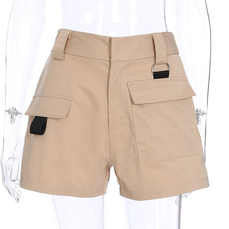 5942e39088 2018 Summer Short Feminino Elastic Women High Waist Shorts Cotton Korean  Style Vintage White Black Ladies Shorts-in Shorts from Women's Clothing on  ...