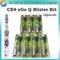 E-Cigarro Kit Blister EGo-Q e charuto ego Q CE4 bateria e kit Q ego Atomizador para o cigarro elétrico líquido Embalagens de Varejo 10 pcs