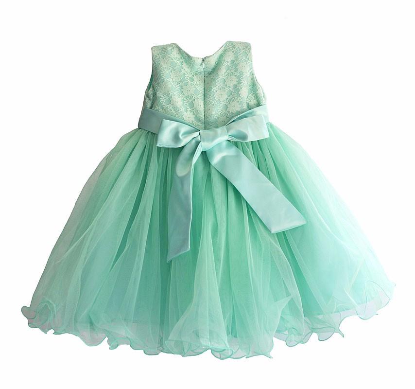 c58a4f6be Tiffany Azul Party Girls Vestido de Encaje de Cuello de Perlas Flor ...