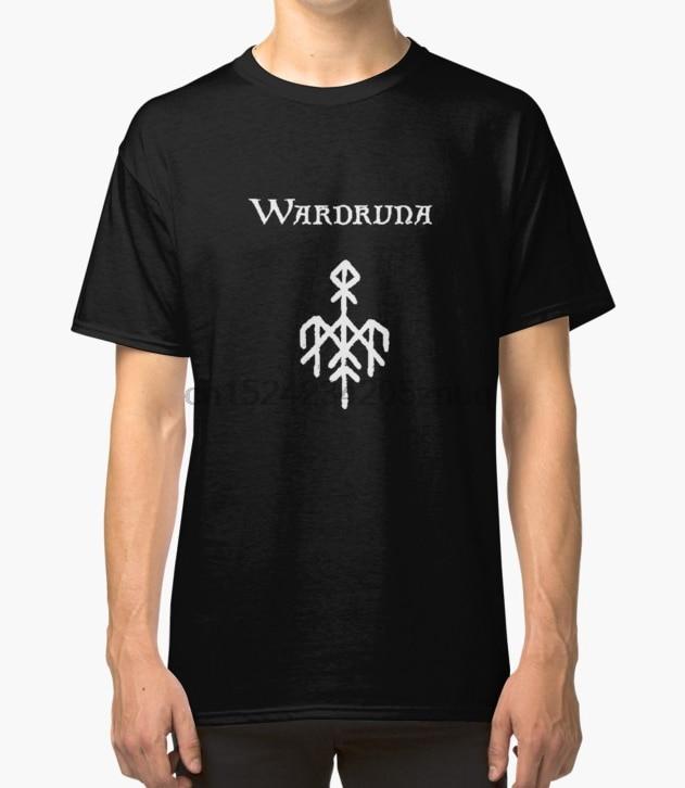 Printed Men T Shirt Cotton tshirts O-Neck Short-Sleeve Wardruna (Avec texte f49645091