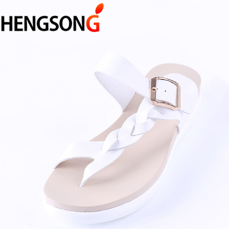 feccb121ae2951 Fashion Women s Slip Slops Sides Woman Slippers Bohemian Summer Sandals  Clip Toe Beach Slides Female Flat Sandals Shoes Size 43-in Flip Flops from  Shoes on ...
