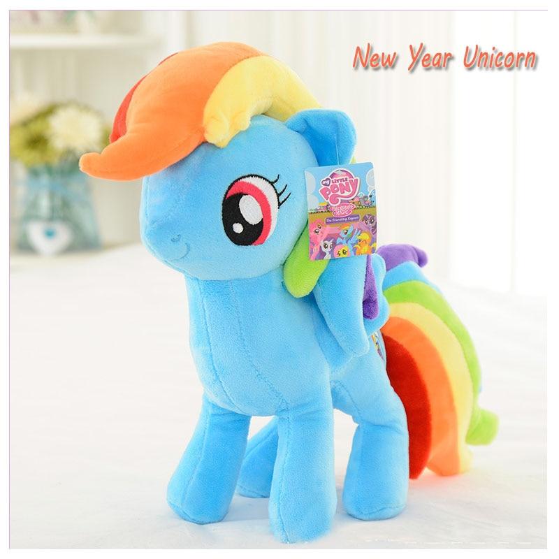 New Horn Horse Unicorn Doll Stuffed Plush Animal Toy Doll Cartoon New Year Plush Unicorns Christmas Birthday Gift Unicornio Toy