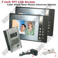 Home Color Video Doorphone 7 inch LCD Monitor 1 To 2 Video Door Phone IR Night Vision Camera Video Doorbell Intercom System
