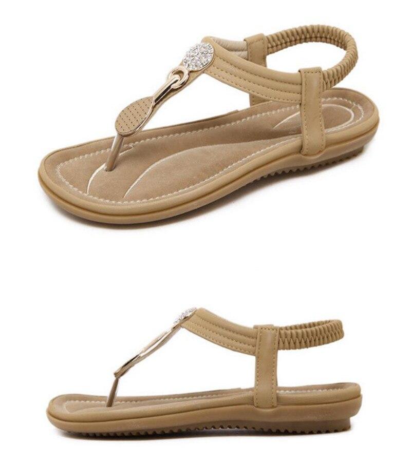 HTB1P3.fmInI8KJjSsziq6z8QpXaf TIMETANG Summer New Bohemia Wedge Women Sandals Rhinestone Woman Flip Flops Vintage Women Shoes Beach