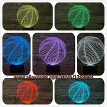 New 2017 Sporting Style Basketball 3D USB LED Lamp Touch Remote RGB Controller Love Sport Boy Bedroom Decoration Gift Kids Toys