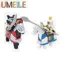 UMEILE Guerra Arma Roma Knight Armor Horse Soldier Escudo Grande De Partículas Bloque Ladrillo Establece Juguetes Compatibles con Duplo Legoe